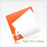 Paper film cutting