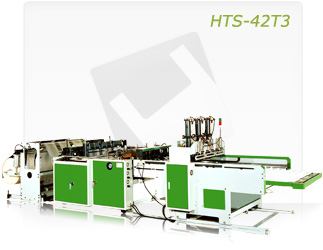 FULLY AUTIMATIC SERVO DRIVER THREE LINES T-SHIRT BAG MAKING MACHINE (HTS-42T3)