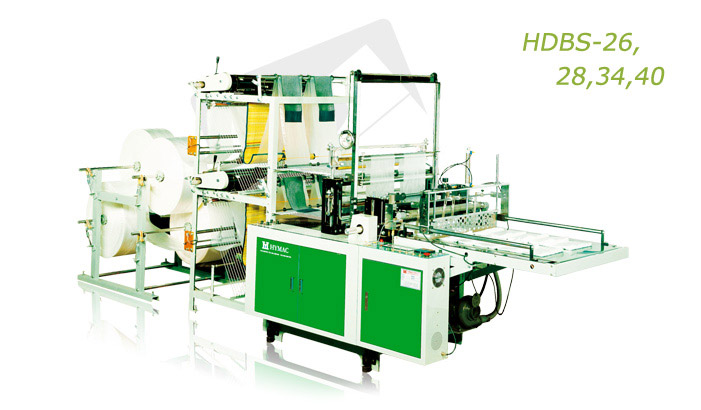 High efficient double deck sealing system bags making machine (HDBS-26, 28, 34, 40)