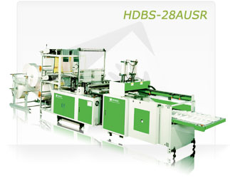 HIGH EFFICIENT DOUBLE DECK SEALING SYSTEM BAG MAKING MACHINE WITH AUTO PUNCHER (HDBS-28AU)