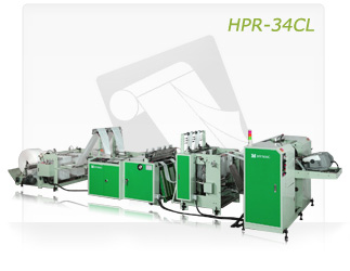 FULLY AUTOMATIC BOTTOM SEALING BAG ON CORELESS ROLL MAKING MACHINE WITH AUTO ROLL CHANGING DEVICE (HPR-34CL)